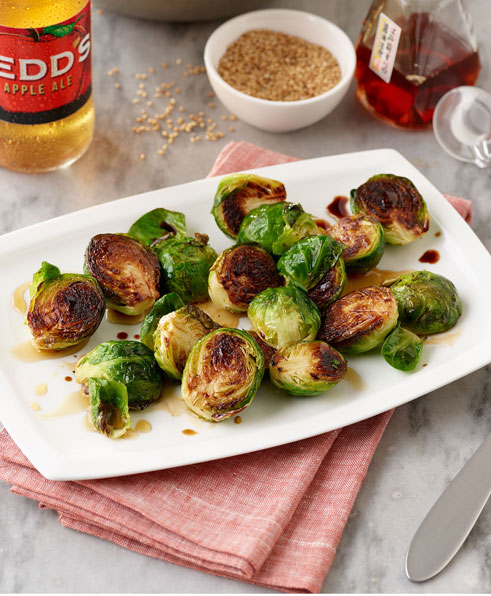 SESAME ROASTED BRUSSEL SPROUTS